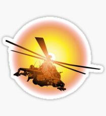 Cartoon strike helicopter Sticker