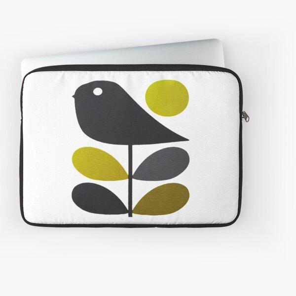 orla kiely- tige fleur, conception d'oiseau Housse d'ordinateur