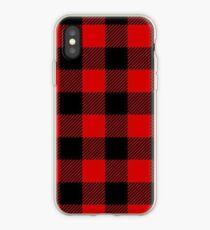 buffalo plaid iPhone Case