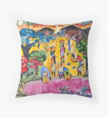 African ladies fetching water (Often I dream about Africa part 1) Throw Pillow