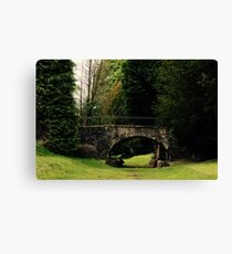 Old Bridge in a Park Canvas Print