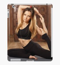 Woman yoga trainer in asana iPad Case/Skin