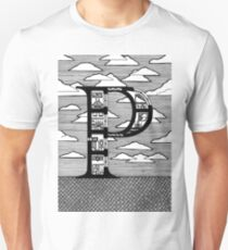 Letter P Architecture Section Alphabet T-Shirt