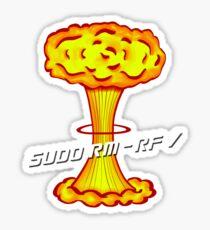 Sudo rm -rf / Sticker