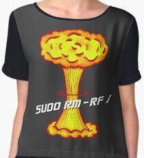 Sudo rm -rf / Chiffon Top