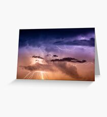 Cloudscape with thunder bolt Greeting Card