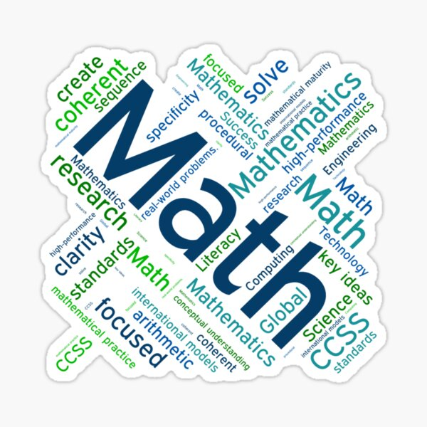 Drawing with words for math lovers Sticker