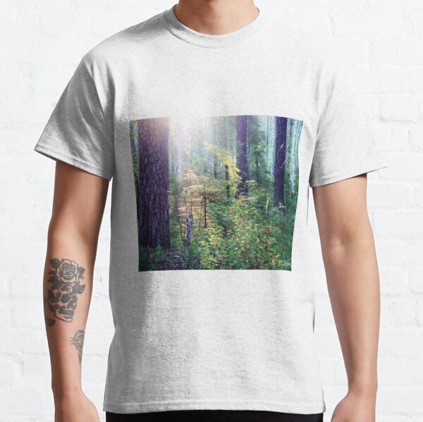 Sunny morning in the forest Classic T-Shirt