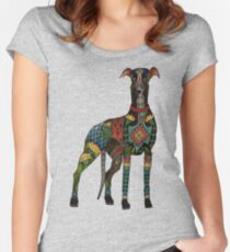 greyhound azure blue Women's Fitted Scoop T-Shirt