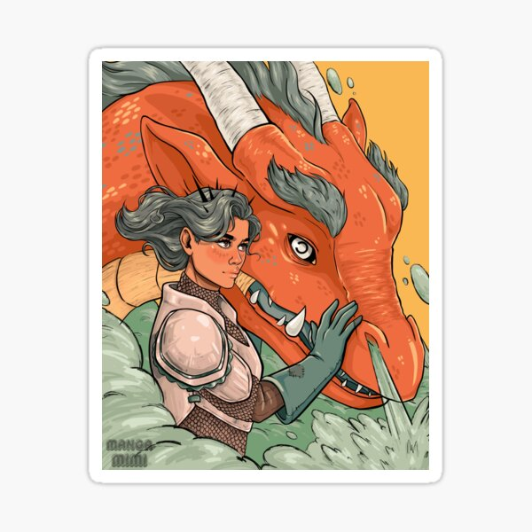 Knight and Dragon Sticker