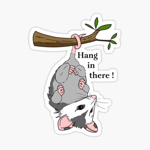 Hang in there Opossum!  Sticker