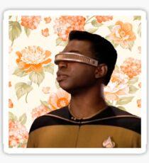 Floral Geordi LaForge  Sticker