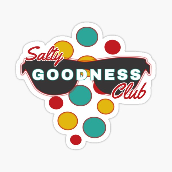 Salty Goodness Club | Colorful Dot accessories | Fun | Expressive Sticker