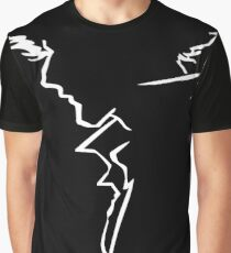 Spike Line Silhouette  Graphic T-Shirt