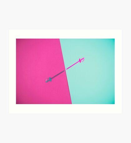 Magenta vs Cyan Kunstdruck