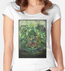 Geometric Panda Women's Fitted Scoop T-Shirt