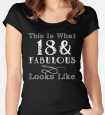 Fun Fabulous 18th Birthday Women's Fitted Scoop T-Shirt