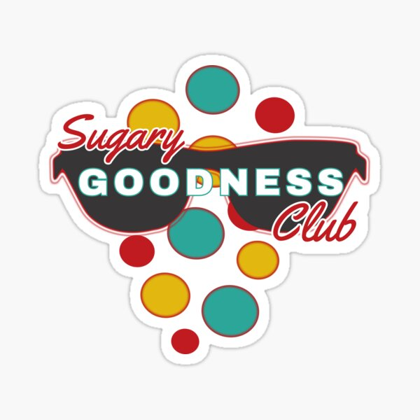 Sugary Goodness Club | Colorful Dot Accessories | Fun | Expressive Sticker
