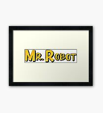 Word Up Wednesdays - Mr Robot - Sitcom Framed Print