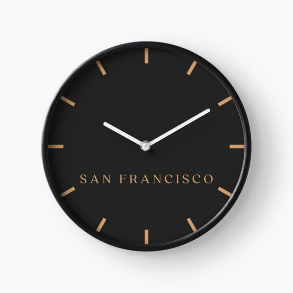 San Francisco Stock Market Time Zone Newsroom Wall Clock Clock