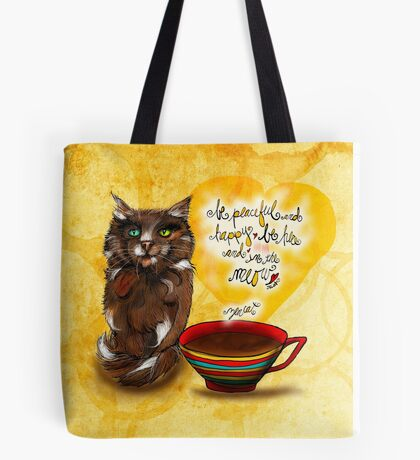What my #Coffee says to me July 30, 2016 Tote Bag