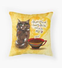 What my #Coffee says to me July 30, 2016 Throw Pillow
