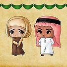 Chibi Saudi Arabians by artwaste