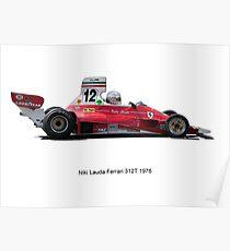 Ferrari 312 Nikki Lauda Poster