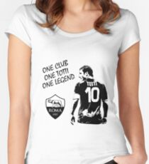 Francesco Totti - Roma - One Club Man Legend Women's Fitted Scoop T-Shirt
