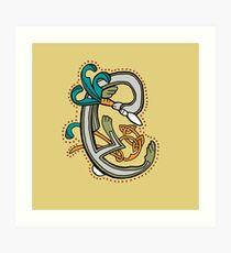 Lámina artística Celtic Rabbit Letter C - New Edition