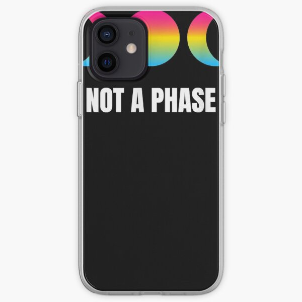 Not A Phase Moon Luna Pansexual Pride Pan Flag LGBT Equality iPhone Soft Case