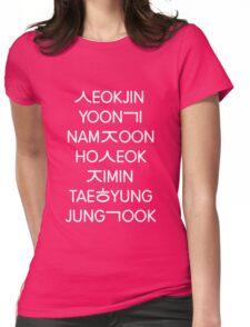 BTS members (hangul) - Black version Womens Fitted T-Shirt