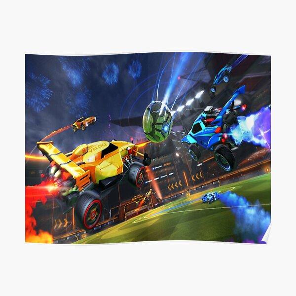 Rocket Soccer Car  Poster