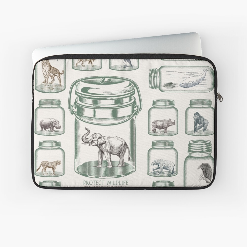 Protect Wildlife - Endangered Species Preservation  Laptop Sleeve Front