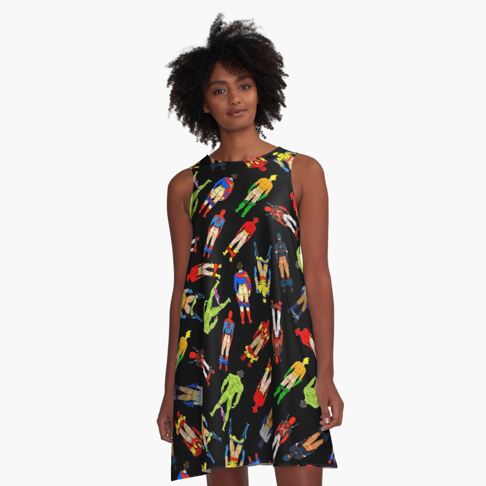 Superhero Butts Circular A-Line Dress Front