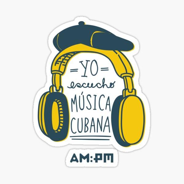 I listen to Cuban music (beret) Sticker