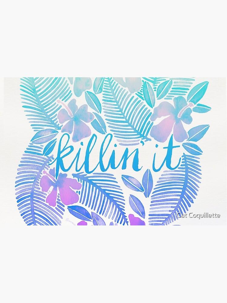 Killin' It – Turquoise + Lavender Ombré by catcoq