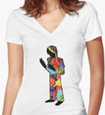 What Is Happening Women's Fitted V-Neck T-Shirt