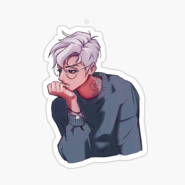 Bored Boy Character Illustration Sticker