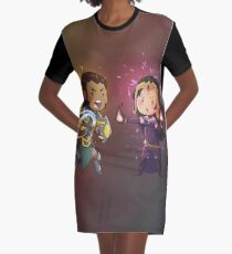 Mortal Enemies Graphic T-Shirt Dress