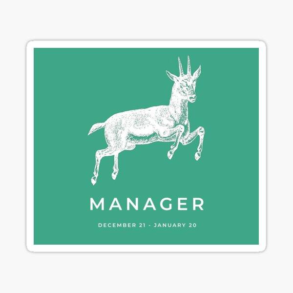 Capricorn 'Manager' Victorian Zodiac Sticker