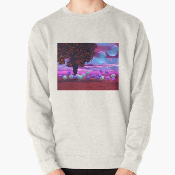 Bubble Garden, Abstract Rose, Violet & Azure Wisdom Pullover Sweatshirt