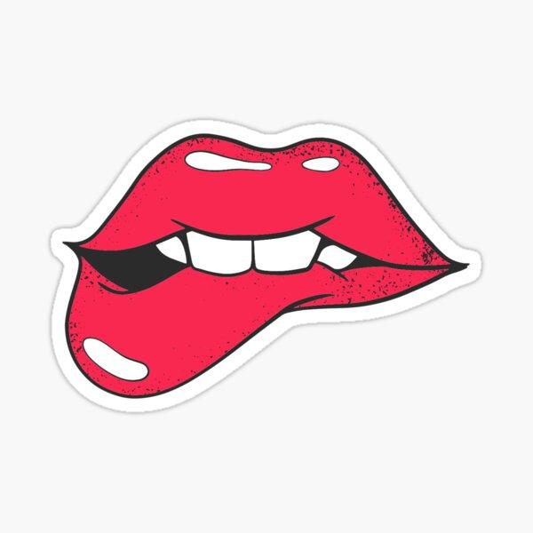 Biting lip  Sticker