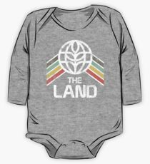 The Land Logo Distressed in Vintage Retro Style One Piece - Long Sleeve