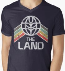 The Land Logo Distressed in Vintage Retro Style T-Shirt