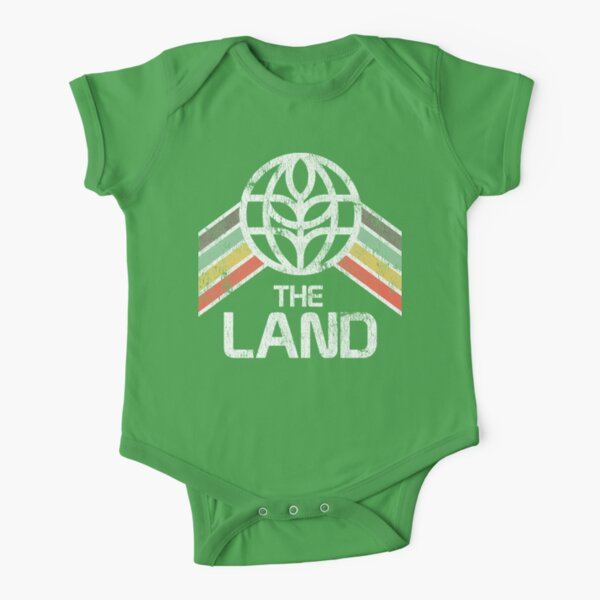 The Land Logo Distressed in Vintage Retro Style Short Sleeve Baby One-Piece