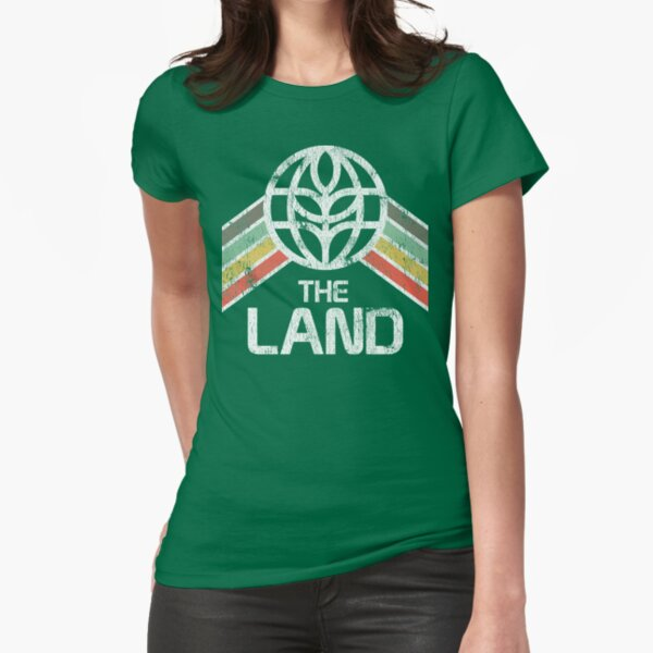 The Land Logo Distressed in Vintage Retro Style Fitted T-Shirt