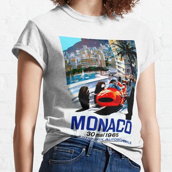 """MONACO GRAND PRIX"" Vintage Auto Racing Print Classic T-Shirt"