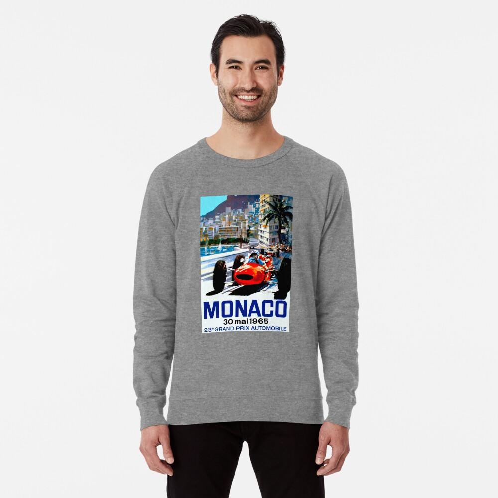 """MONACO GRAND PRIX"" Vintage Auto Racing Print Leichtes Sweatshirt"