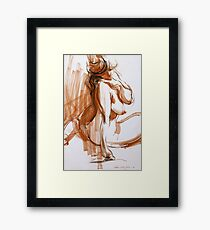 Voluptuous Figure Framed Print